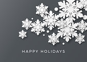 Holiday Card with Paper Snowflakes