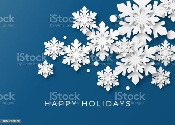 종이 눈송이와 크리스마스 카드 0명에 대한 스톡 벡터 아트 및 기타 이미지