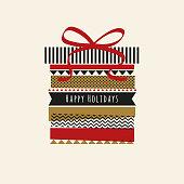 Holiday card with Washi Tape i illustration