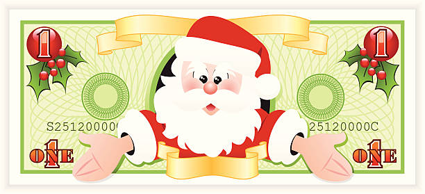 Best Santa Money Illustrations, Royalty-Free Vector ...