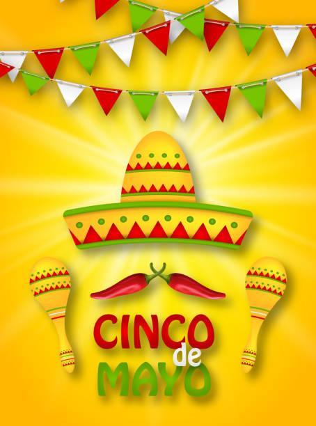 Urlaub Feier Banner für Cinco De Mayo – Vektorgrafik