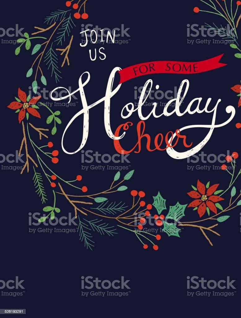 Holiday Cheer Greeting vector art illustration