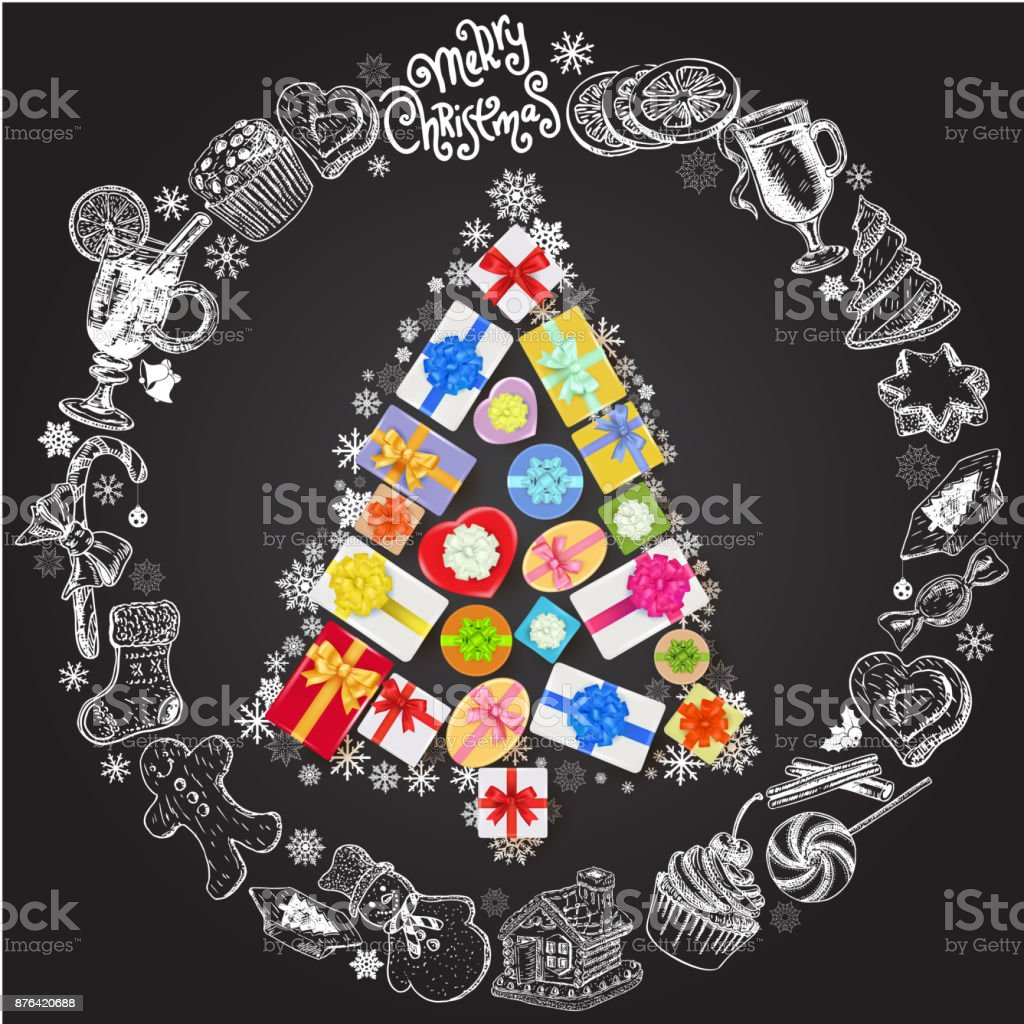 Plantilla De Tarjeta De Vacaciones De Navidad Y Año Nuevo Cartel De ...