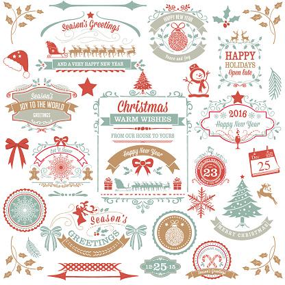 Holiday Christmas Label Tag Set