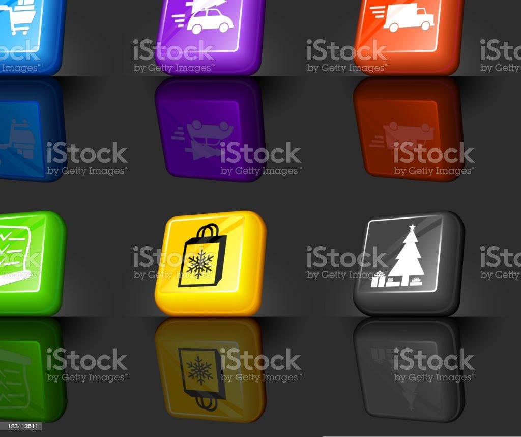 Holiday Christmas Shopping internet royalty free vector icon set royalty-free stock vector art