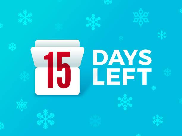 Holiday Countdown Flip Number vector art illustration