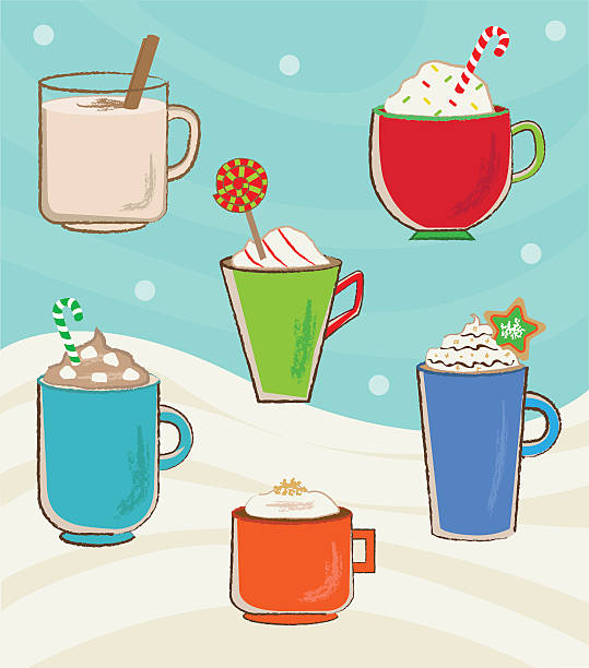 Holiday Cups vector art illustration