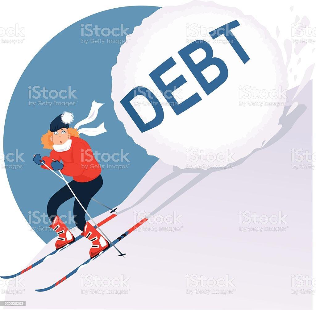 Feriado de dívida - ilustração de arte em vetor