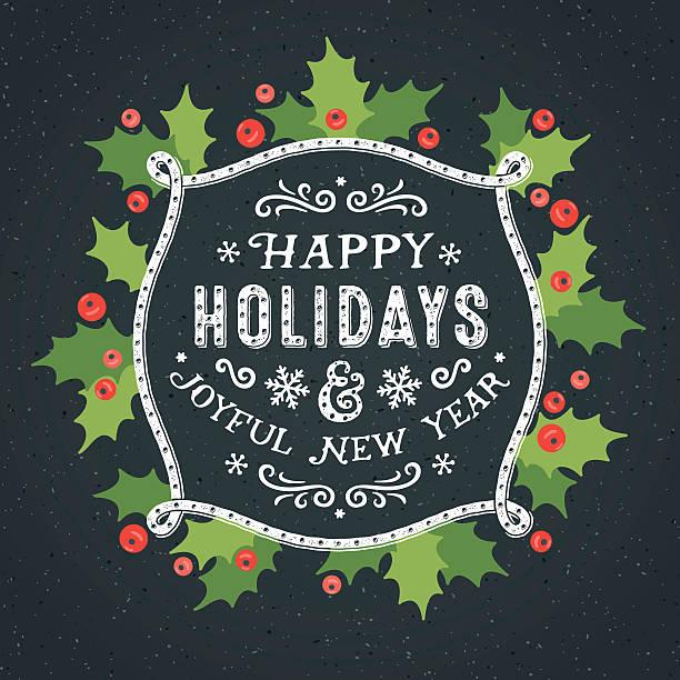 ilustraciones, imágenes clip art, dibujos animados e iconos de stock de tarjeta de decoración para los días festivos - marcos de festividades y de temporada
