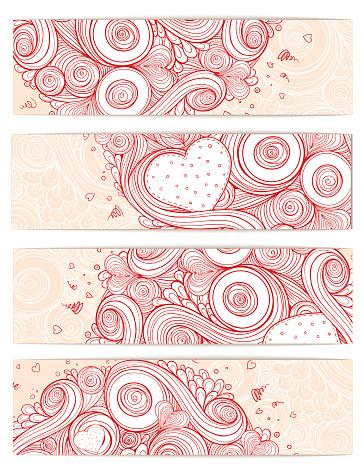 Holiday doodle background. Set of cards