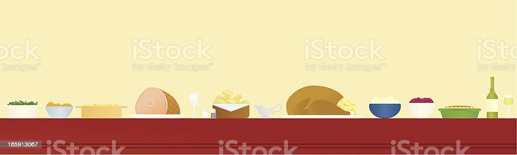 Holiday Feast vector art illustration
