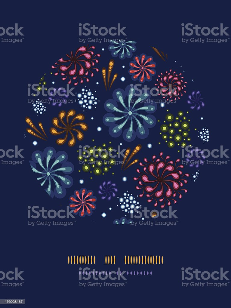 Holiday fireworks circle decor pattern background royalty-free stock vector art
