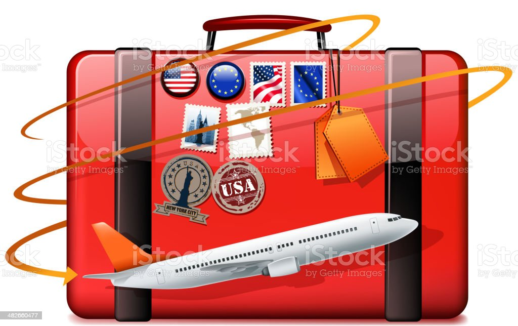holiday flying royalty-free stock vector art