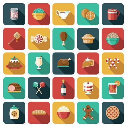 Holiday Food Icon Set