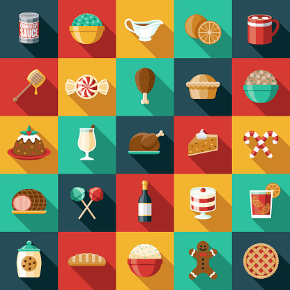 Holiday Foods Icon Set clipart