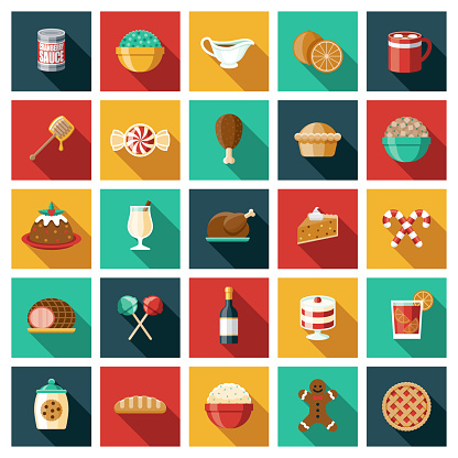Holiday Foods Icon Set