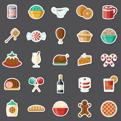 Holiday Foods Sticker Set
