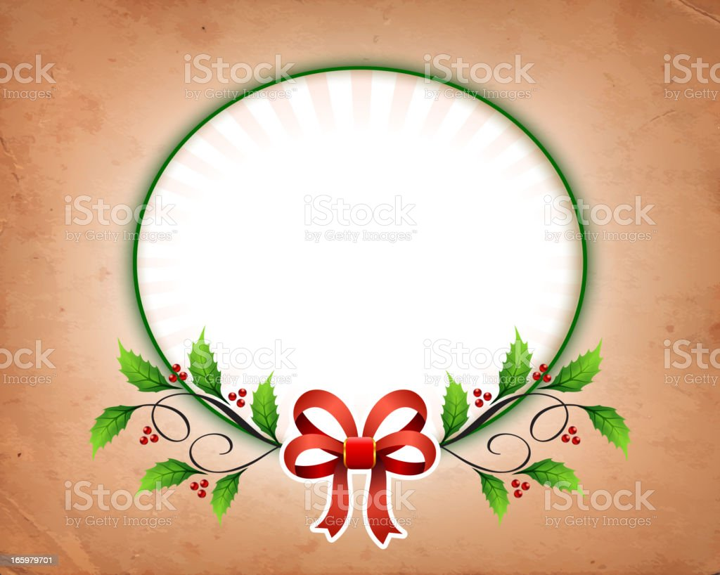 Holiday Frame on Old Dirty Paper royalty-free holiday frame on old dirty paper stock vector art & more images of 1940-1949
