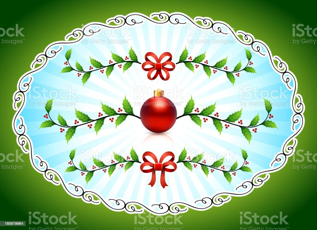 Holiday frame with Christmas Decorations royalty-free stock vector art