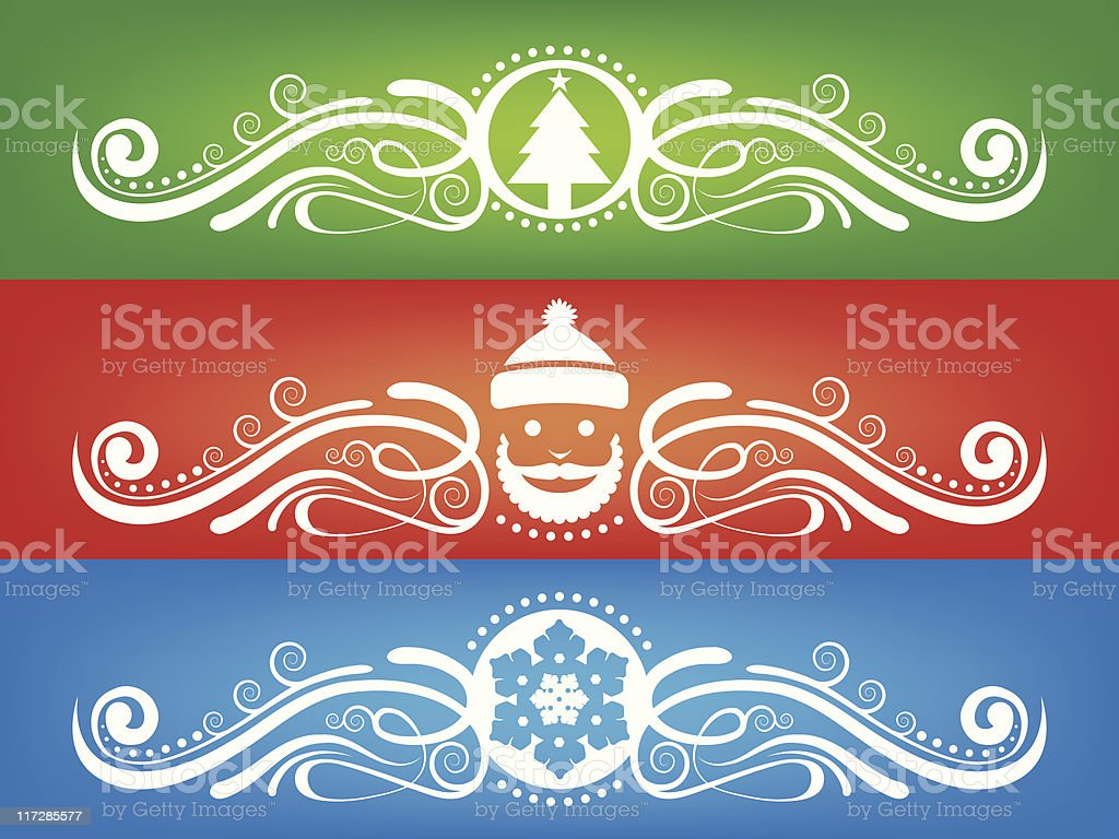 Holiday Fretwork royalty-free stock vector art