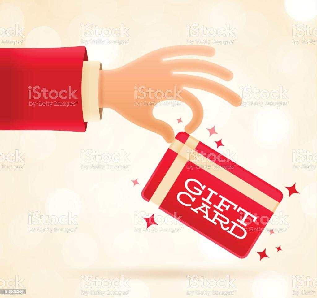 Carte-cadeau pour les fêtes - Illustration vectorielle