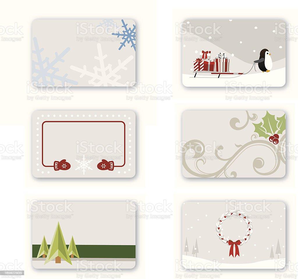 Holiday Gift Cards vector art illustration
