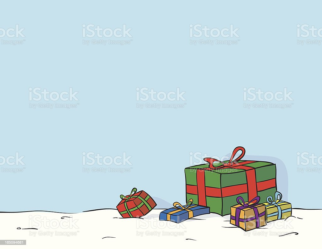 Holiday Gift Drawing royalty-free holiday gift drawing stock vector art & more images of box - container
