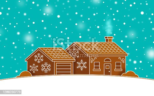 istock Holiday Gingerbread House 1286230773
