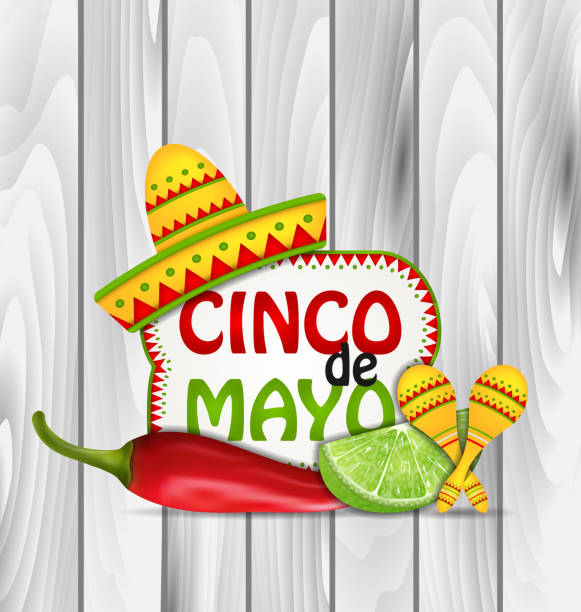 holiday greeting background for cinco de mayo - cinco de may stock illustrations, clip art, cartoons, & icons