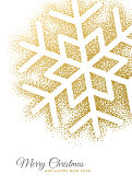 Holiday greeting card with Snowflake. Stock illustration