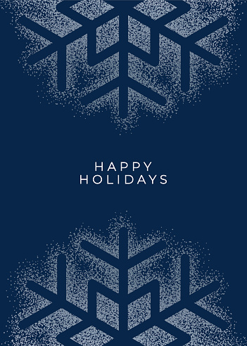 Holiday greeting card with Snowflake.
