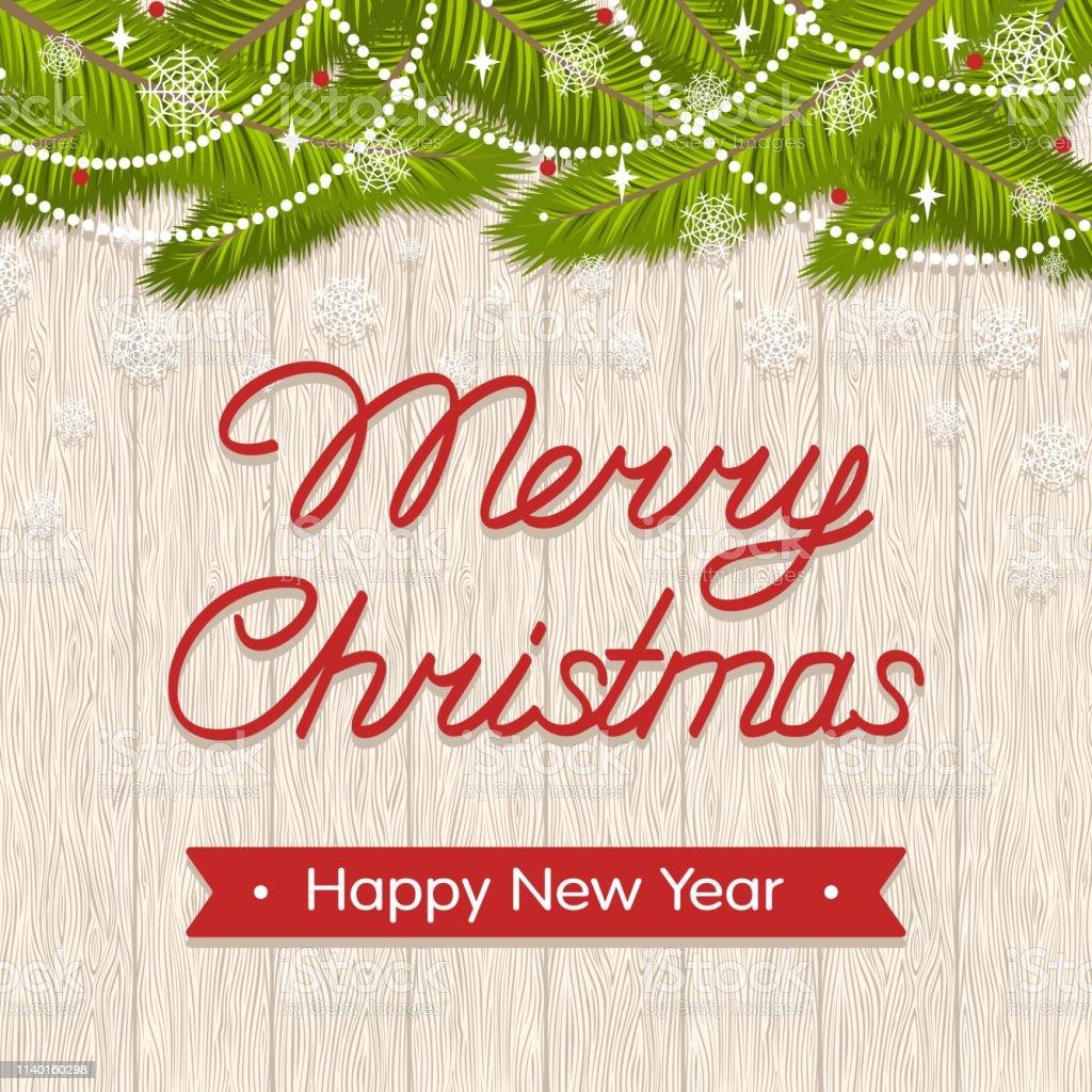 Text Frohe Weihnachten Und Ein Gutes Neues Jahr.Feiertagsgrüßungskarte Mit Text Frohe Weihnachten Und Ein Gutes