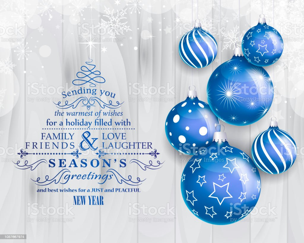 Weihnachtskarte – Vektorgrafik
