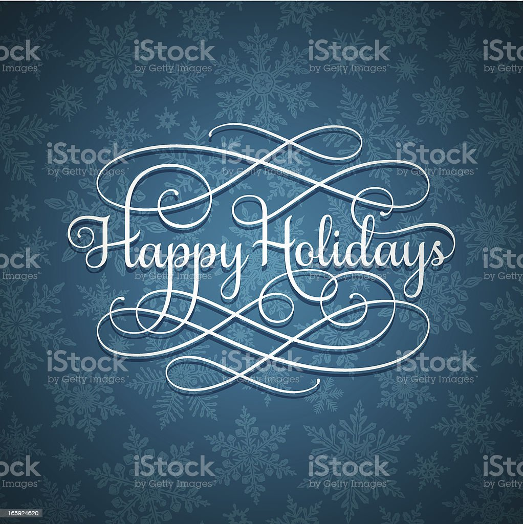 Holiday Greetings Calligraphy royalty-free holiday greetings calligraphy stock vector art & more images of backdrop
