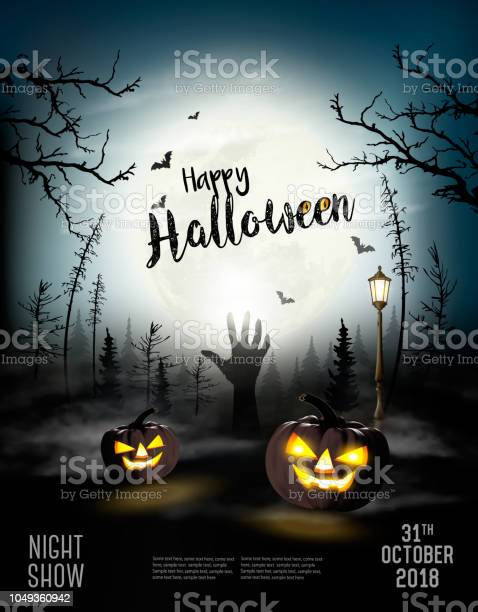 Holiday halloween spooky background with pumpkins and hand vector vector id1049360942?b=1&k=6&m=1049360942&s=612x612&h=mwsdedev8unffuuqws5bhjby9aly6oqzfdts4ruv17y=