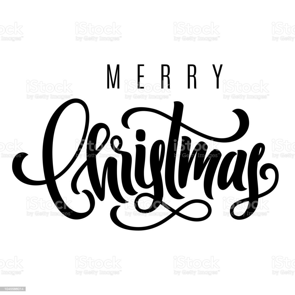 holiday hand lettering merry christmas template for a banner poster