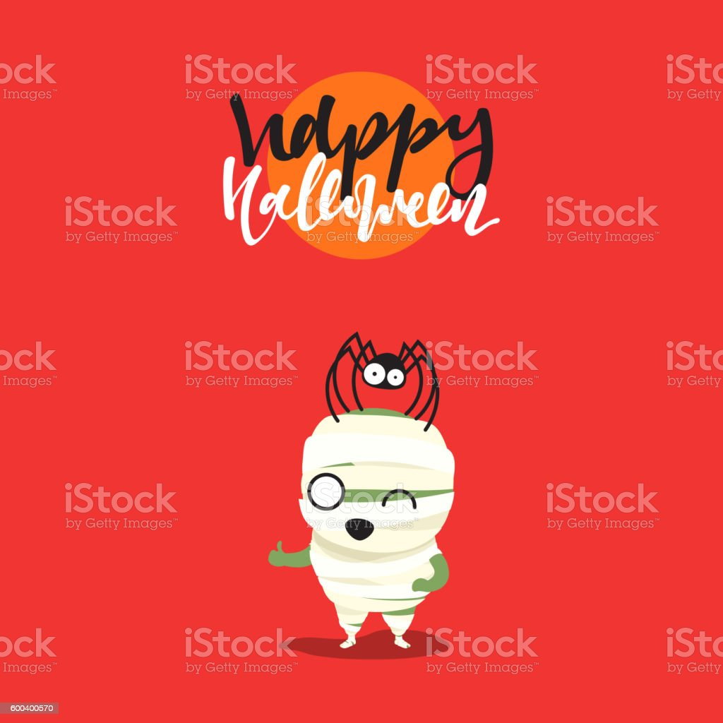 Holiday Happy Halloween Funny Doodle Characters Stock Illustration