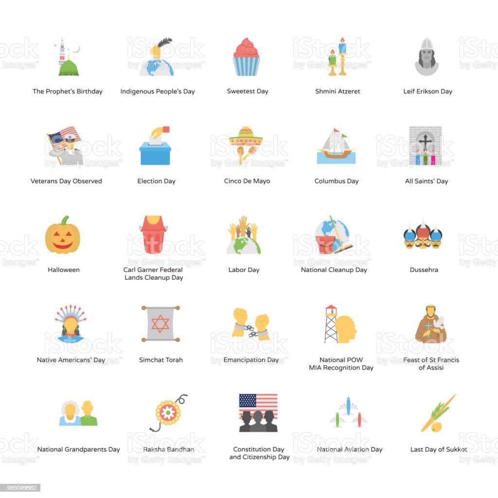 Holiday Icons Pack holiday icons pack - stockowe grafiki wektorowe i więcej obrazów bez ludzi royalty-free
