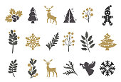 Vector illustration of the holiday icons set