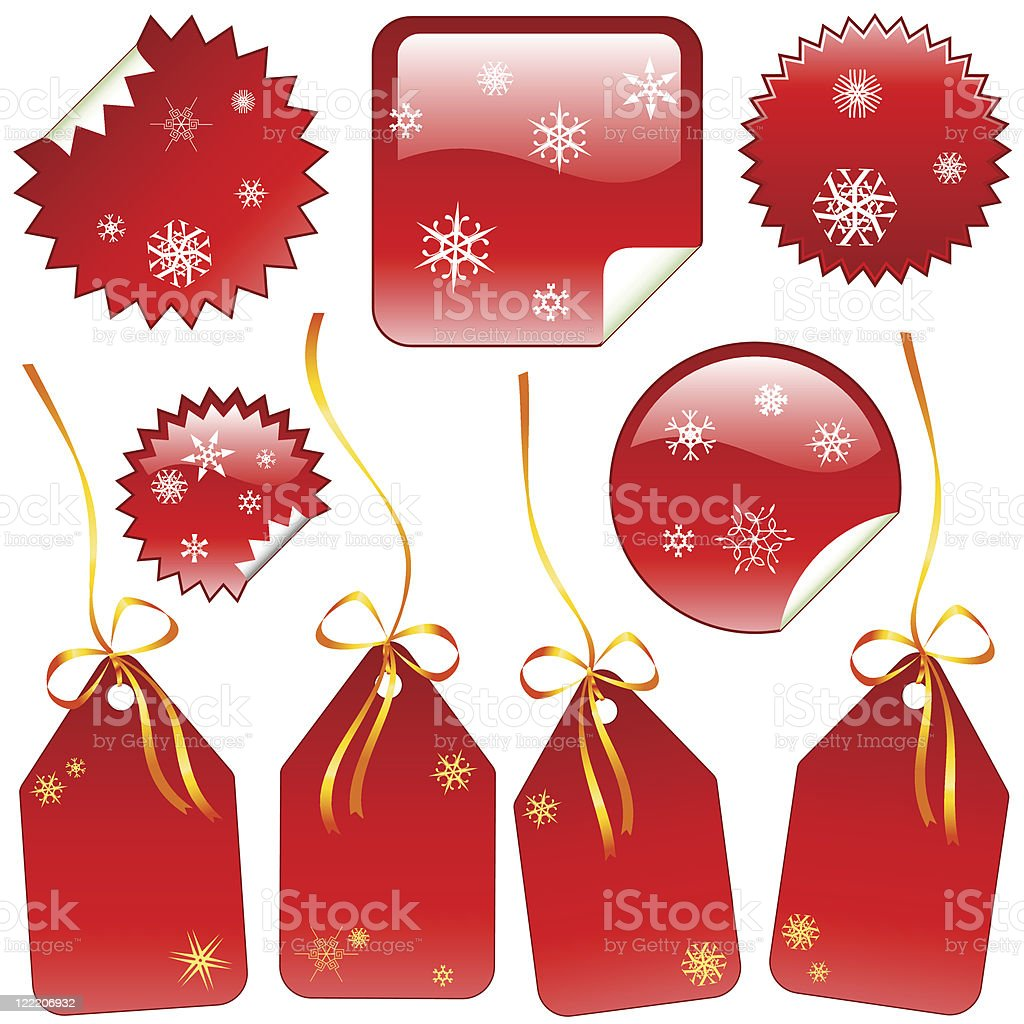 Holiday labels royalty-free stock vector art