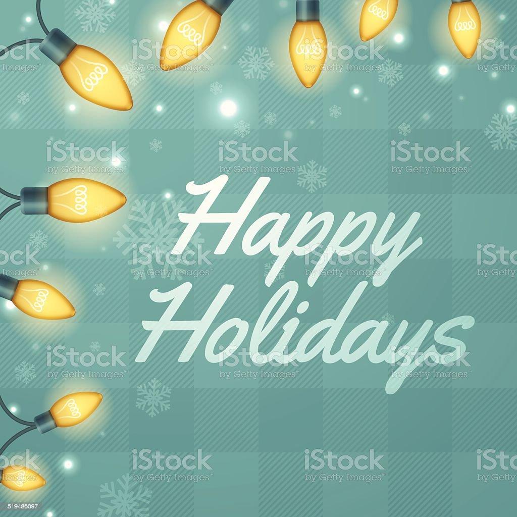 Holiday Lights vector art illustration