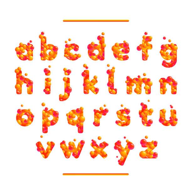Holiday orange vector font isolated on white bg vector art illustration