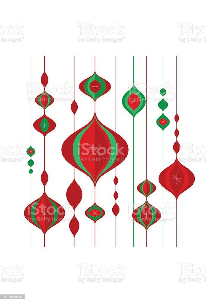 Holiday Ornament Pattern vector art illustration