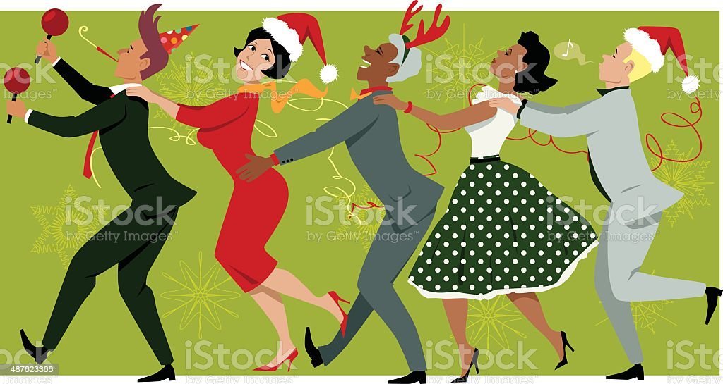 Holiday Party In The Office Royalty Free Stock Vector Art