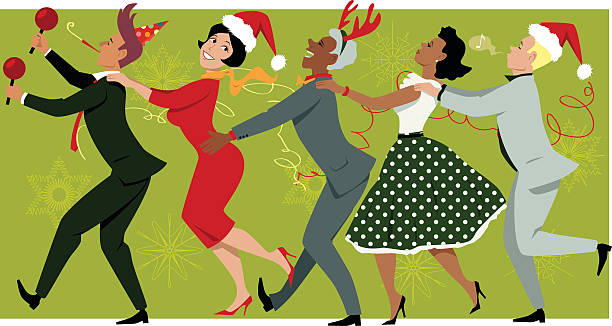 Christmas Party Images Clip Art.Best Office Christmas Party Illustrations Royalty Free