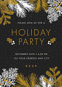 Holiday party invitation - Illustration