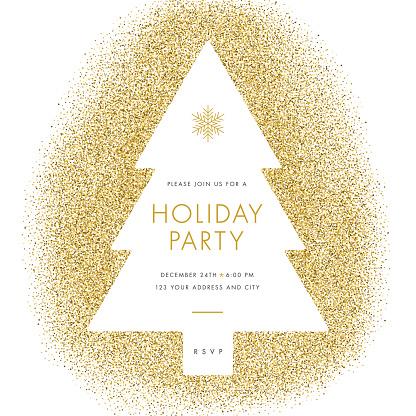 Holiday party invitation.