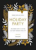Holiday party invitation - Illustration
