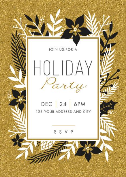 Invitación de la fiesta de vacaciones. - ilustración de arte vectorial