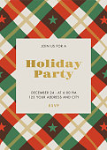 Holiday Party invitation with Stars and Stripes. - Illustration